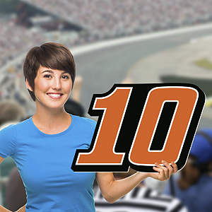 Danica Patrick Number Big Head Cut Out